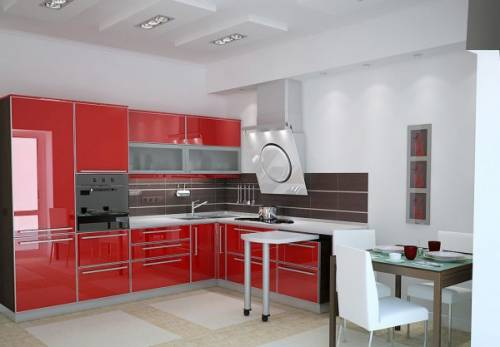 дизайн кухни с лоджией